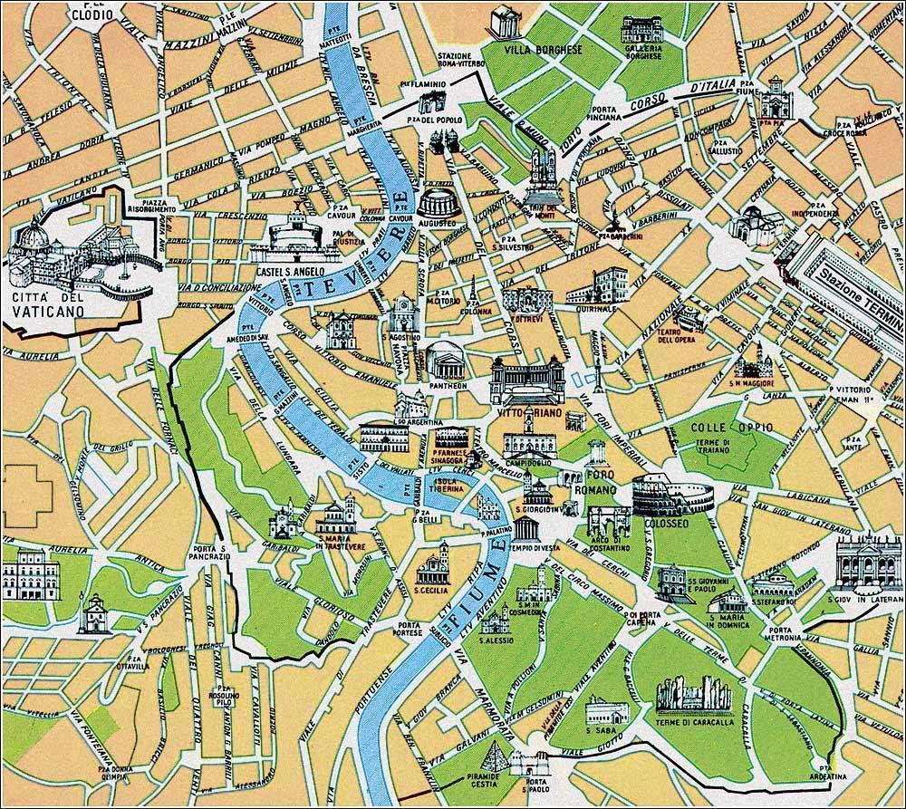 Karte Rom