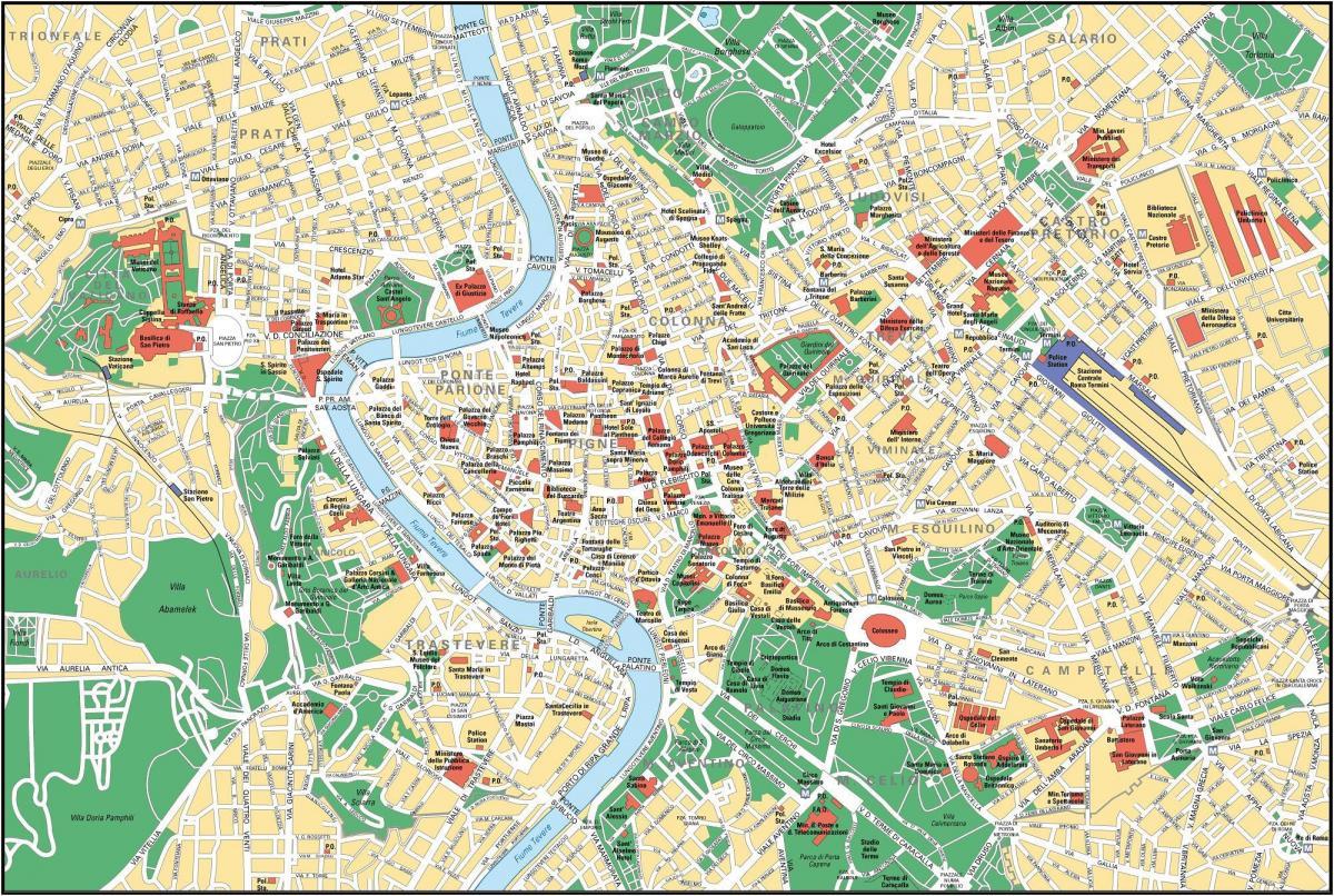 Rom Karte Eine Karte Von Rom Lazio Italien