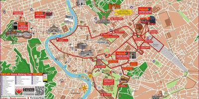 Hop-on-hop-off Rom, Italien-map
