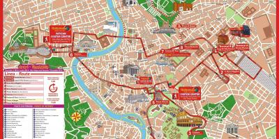 Rom, city sightseeing bus route map